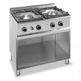 Cucina Inox a Gas 2 Fuochi