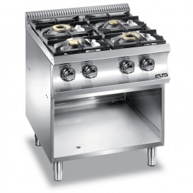 Cucina Inox a Gas 4 Fuochi