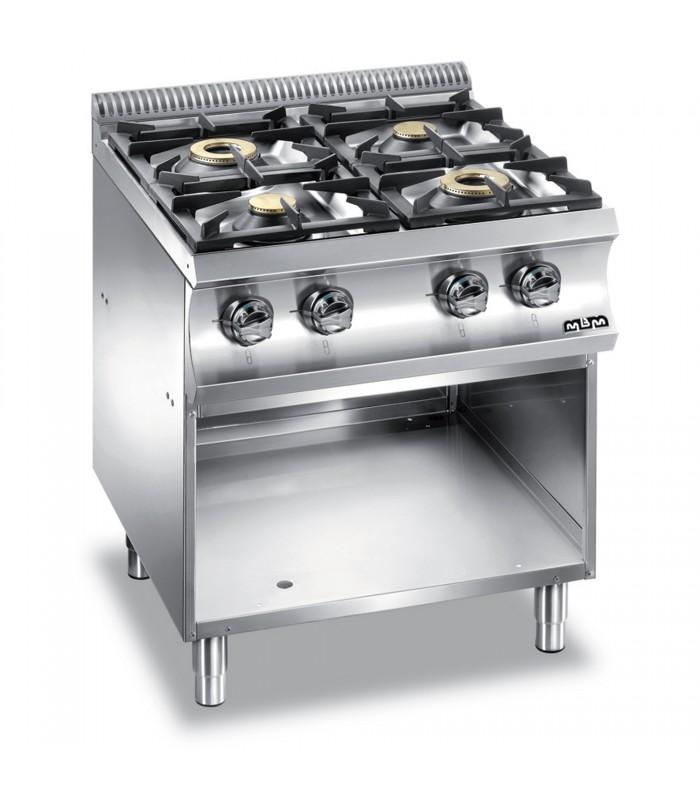 cucina inox a gas 4 fuochi fg eventi