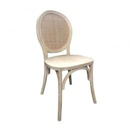 Sedia in legno e vimini mod. Monet colore natural wash
