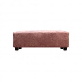 Pouf in velluto rosa mod. Eva
