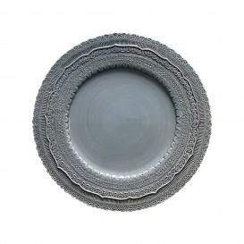 Servizio di piatti in ceramica color celeste polvere mod. Finezza
