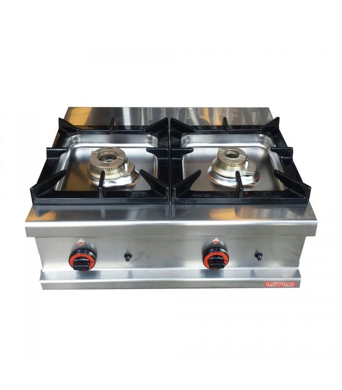 Cucina inox a gas 2 fuochi - Cucina a gas due fuochi ...